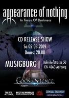 Appearance of Nothing – CD-Taufe in der Musigburg